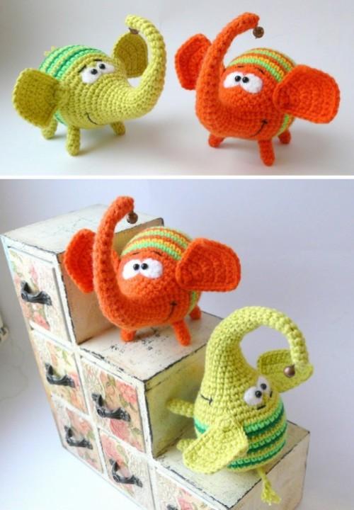 Little Rainbow Elephant - Free Pattern