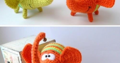 Rainbow Loom Elephant (Part 2 of 2) Loomigurumi Amigurumi Hook ... | 263x500