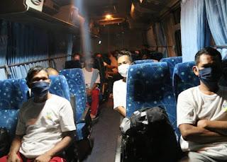 rapid Test Negatif, 51 Pekerja Migran Dari Malaysia Pulang Kampung