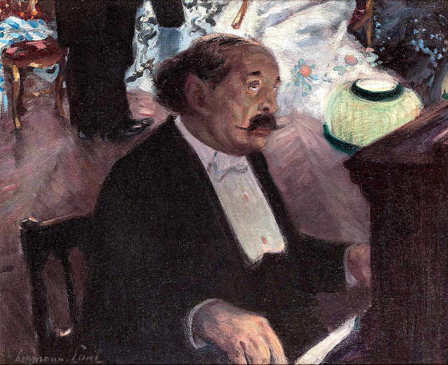 a René Georges Hermann-Paul painting of a piano musician