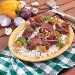 How to Make Sirloin Veggie Kabobs