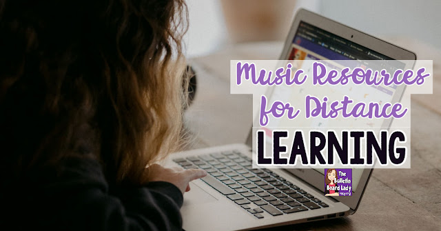 Music resources are shared for distance learning in this article by a veteran elementary music teacher.  Music room distance learning.