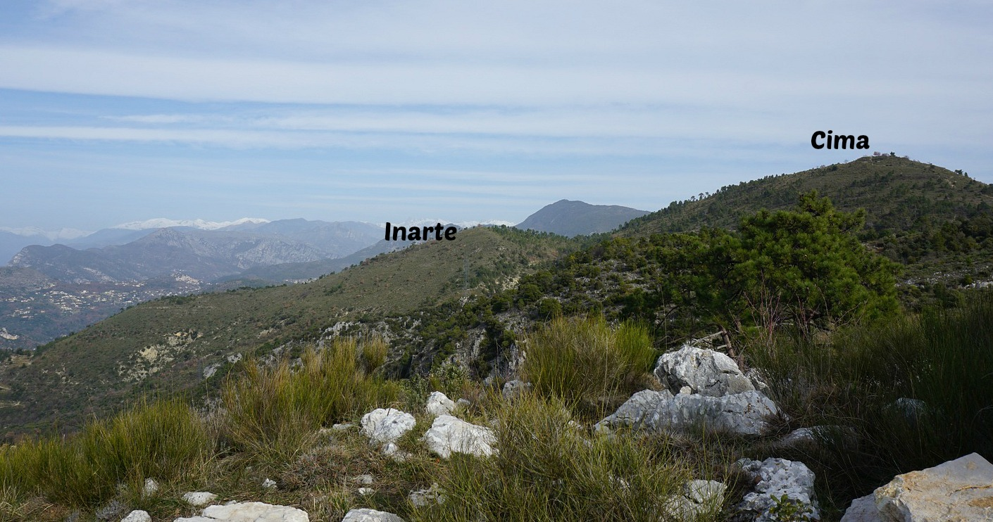 Mont Inarte and Cima seen from Croix de Cuor