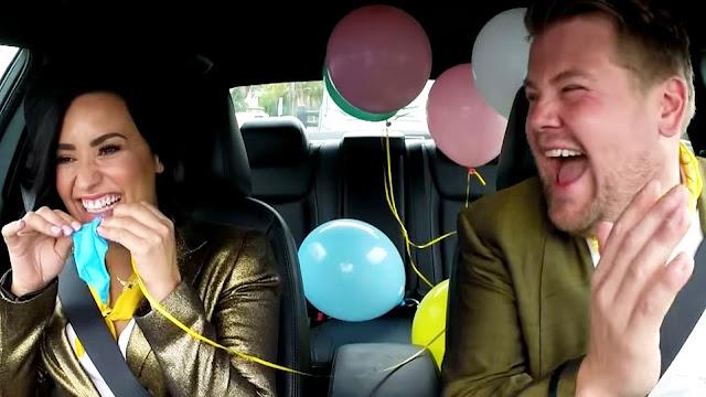 Demi Lovato es una Diva Durante 'The Late Late Show With James Corden'. Video