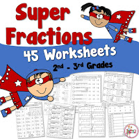 Super Fractions Worksheets