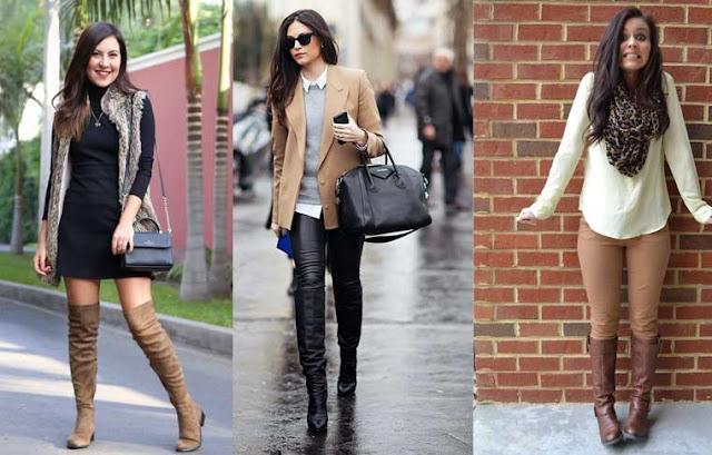 Como utilizar tus zapatos de mujer  : botas de moda