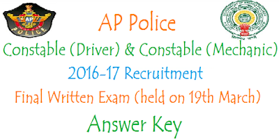 AP PCs (Mechanic & Driver) FWE Answer Key 2017