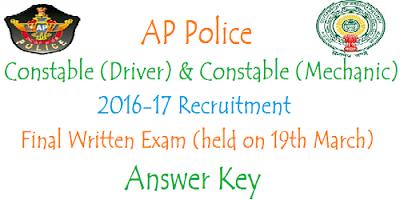 AP PCs (Mechanic & Driver) FWE Answer Key 2017
