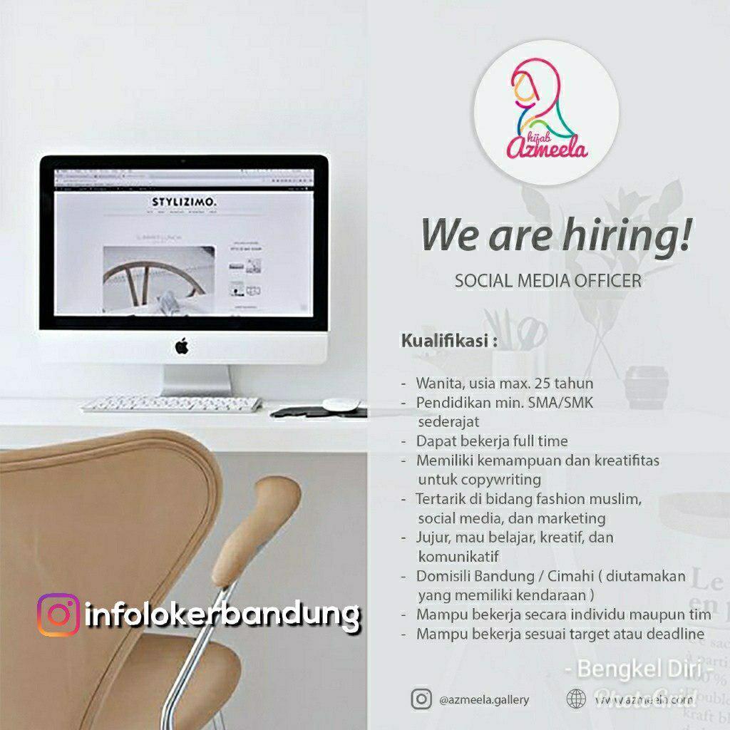 Lowongan Kerja Social Media Officer Azmeela Bandung Juli 2018