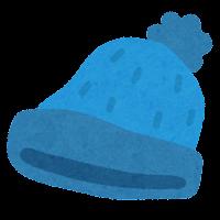 ニット帽のイラスト(青)