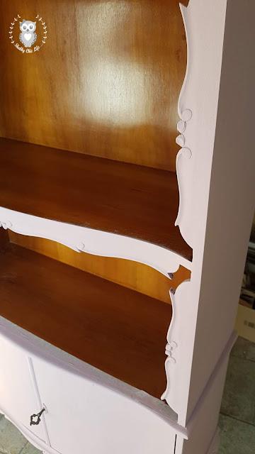 libreria, shabby chic, arredamento, chalk paint, prima e dopo, vintage, colori, vernice