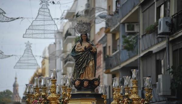 Horario e Itinerario Procesión de la Inmaculada de los Padres Blancos. Sevilla 08 de Diciembre del 2019