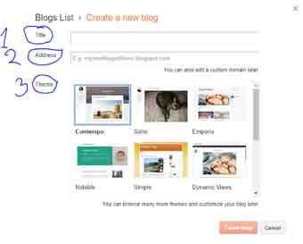 Blogger tittle