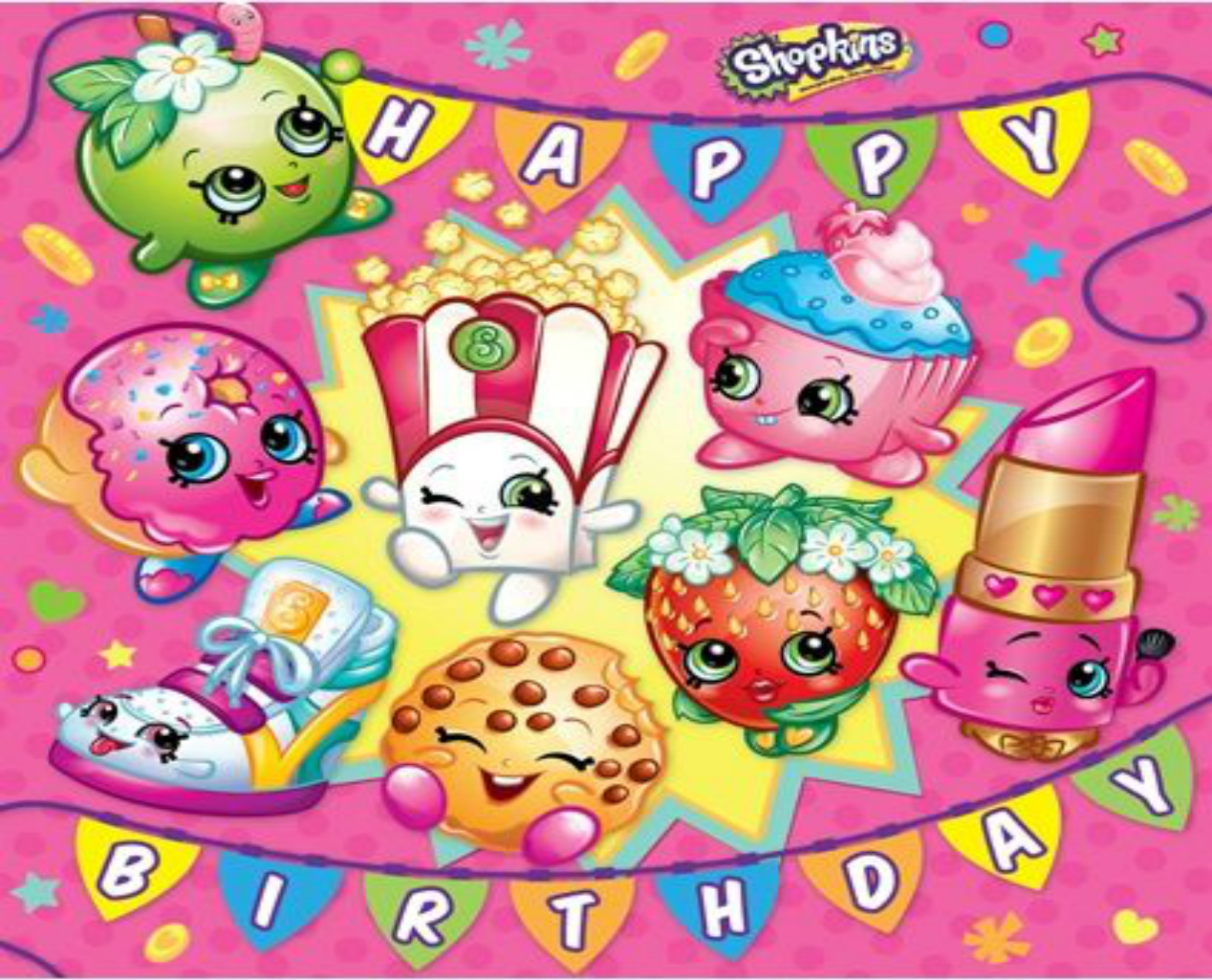 Shopkins Edible Cake Topper