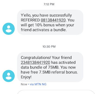 MTN Data Referral: Get 10% of The Data Bundle Your Friends and Family Purchase