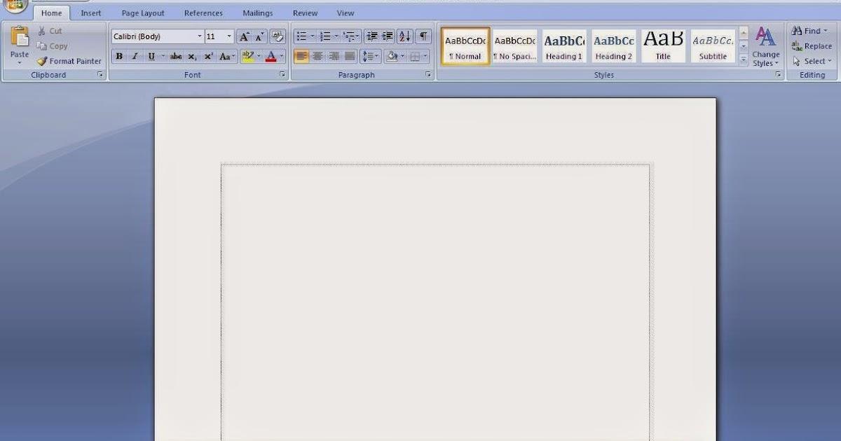 Cara Menampilkan Garis Tepi Pada Ms. Word 2007