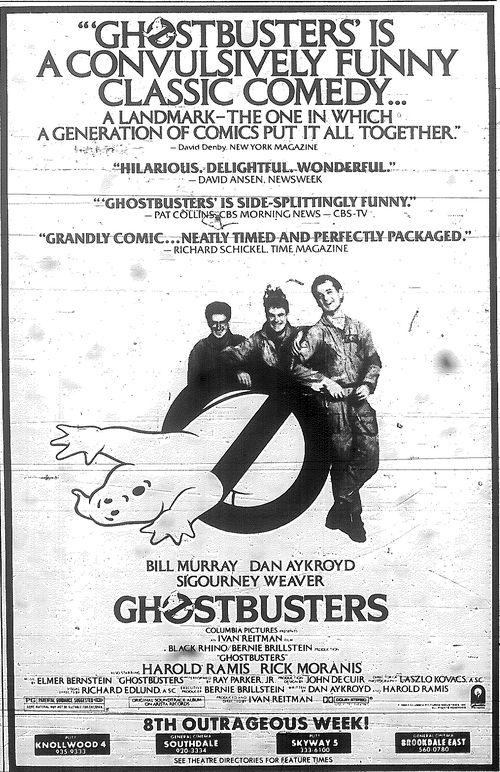 Carteleras de cine en el verano de 1984