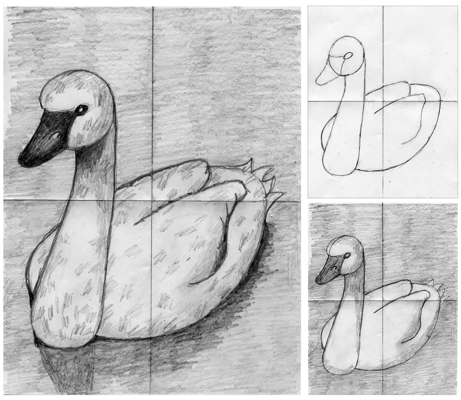 Drawing a Shaded Swan | Art Projects for Kids