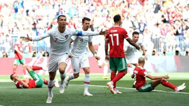 Hasil Portugal vs Maroko Skor Akhir 1-0 | Fase Group B World Cup 2018