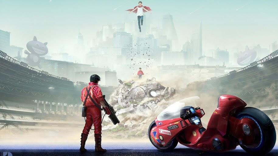 Anime, Akira, Motorcycle, Shotaro Kaneda, 4K, #273
