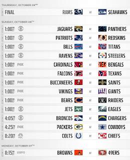 NFL Week 5 Pick'em