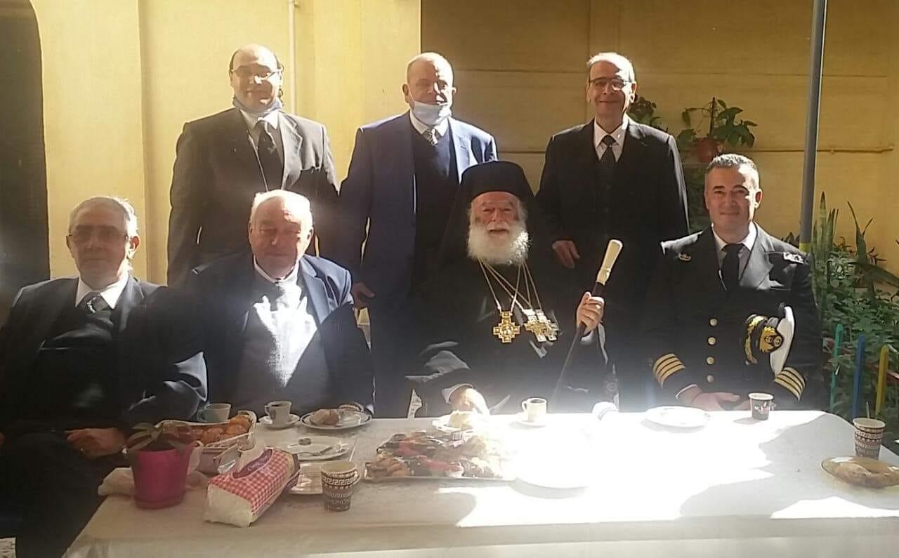 وفد بيت العائلة ببورسعيد يشارك فى ذكرى أربعين مطران الروم الأرثوذكس