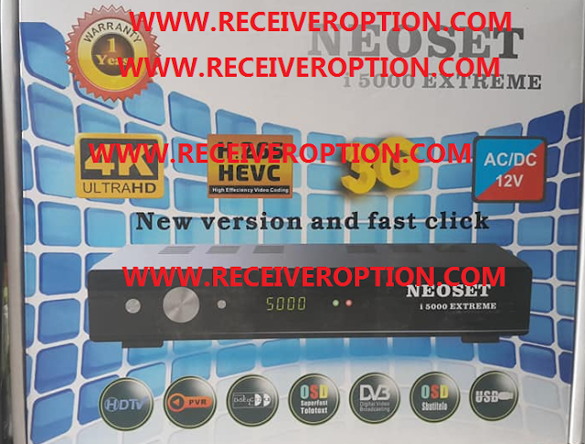 NEOSET i 5000 EXTREME HD RECEIVER NEW SOFTWARE WITH IMEI REGISTRATION OPTION