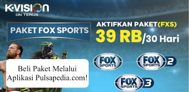 Paket FOX Sports K Vision Terbaru (FXS)