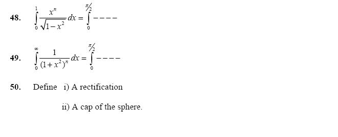 Integration of Irrational Algebraic and Transcendental Functions, Application of Integration