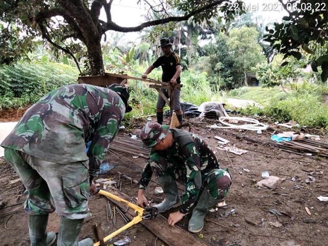 Karya Bakti Diwilayah Binaan, Personel Jajaran Kodim 0207/Simalungun Turun Kewilayah Binaan