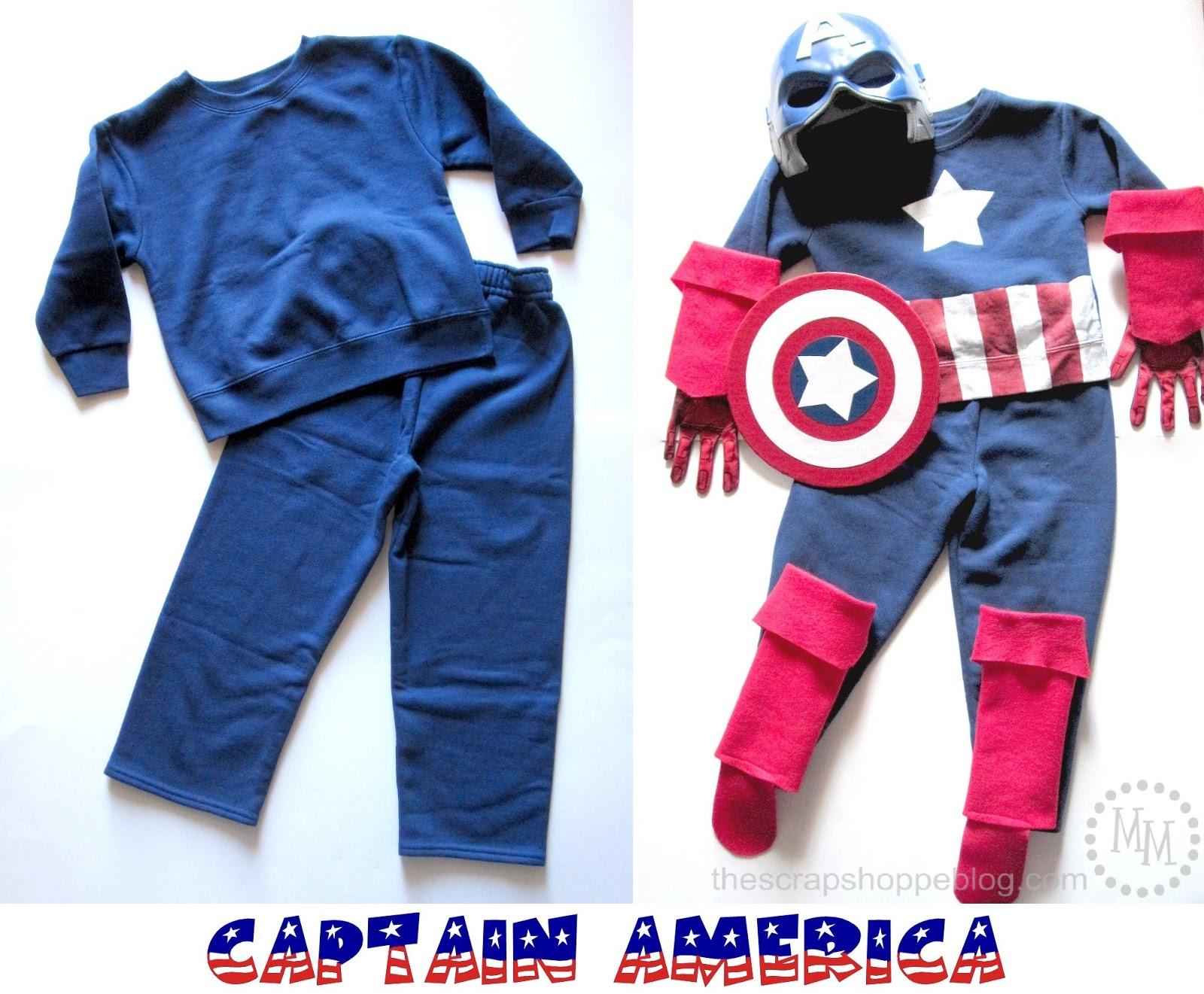 DIY Captain America u0026 Thor Costumes  sc 1 st  The Scrap Shoppe & DIY Captain America u0026 Thor Costumes - The Scrap Shoppe