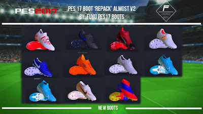 "PES 2017 Boot Repack AIO ""ALMOST"" V2 by FuyuPES17 Boots ( 100 Boots )"