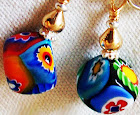 Summer of Love Millefiori Earrings