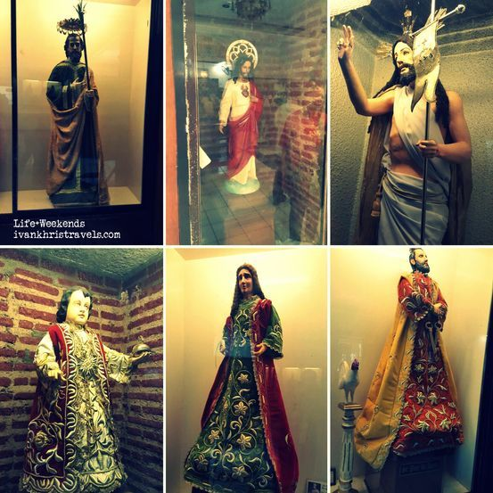 Religious statues inside Our Lady of Manaoag Church