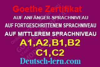 Goethe Zertifikat A1,A2,B1,B2 C1,C2 Lesen Sprechen Schreiben Hören | نماذج امتحان من معهد جوته لكل مستويات اللغة الالمانية