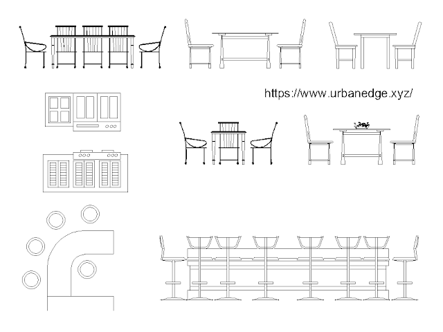 Dining Table elevation cad blocks free download - 10+ free cad blocks