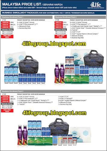 foto Senarai Harga 4Life Malaysia (GST kadar Sifar - 0%) (6)