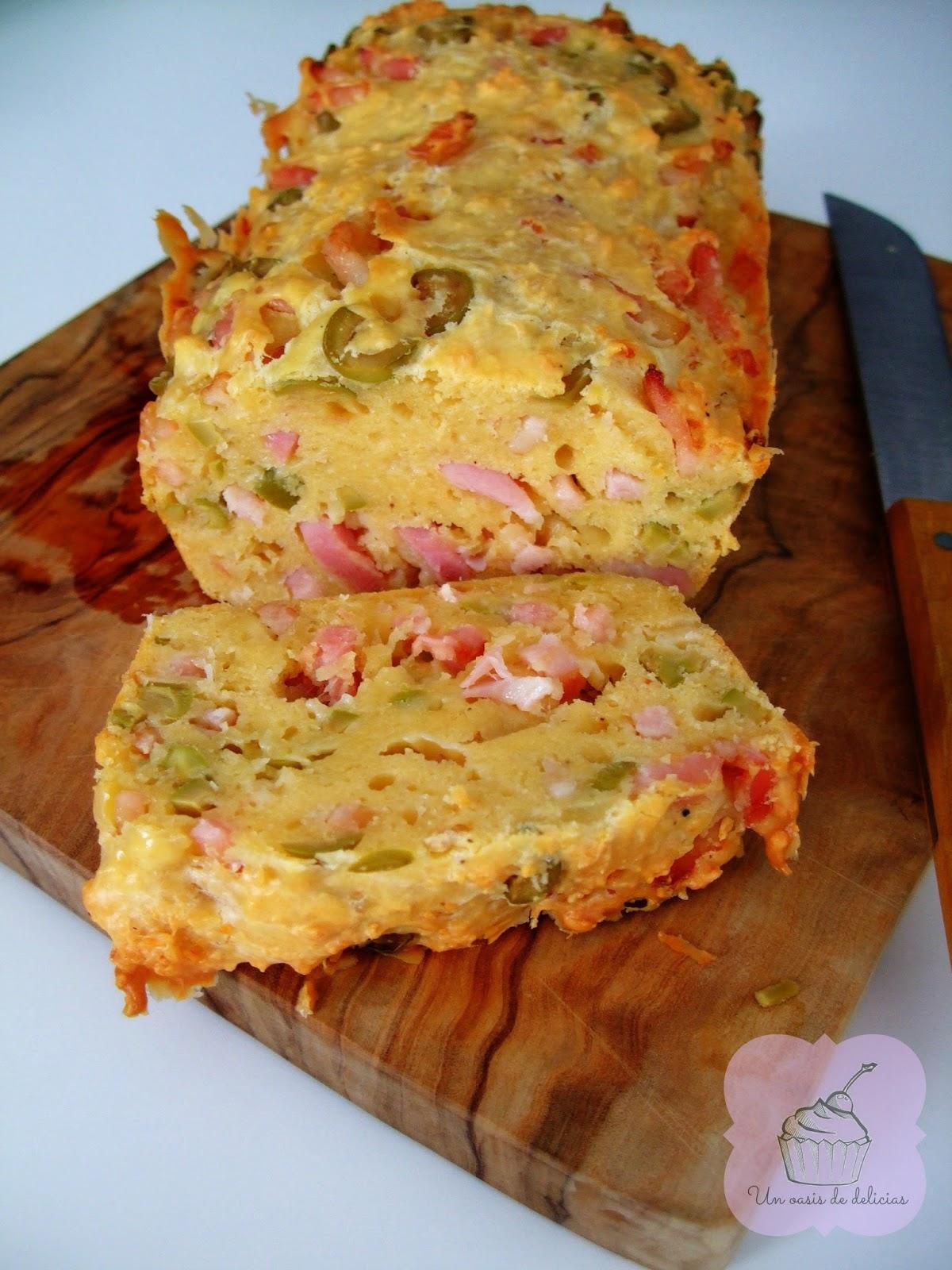 Cake Aux Olives Verte Et Lardons
