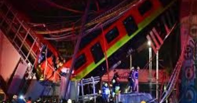 Breaking: 23 killed, at least 70 injured , Mexico City metro overpass collapses onto road