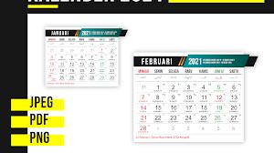 Download Desain Template Kalender 2021 Gratis PSD,PDF,CDR,PNG,JPEG