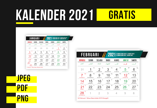 Download Desain Template Kalender 2021 Gratis PSD,PDF,CDR,PNG,JPEG