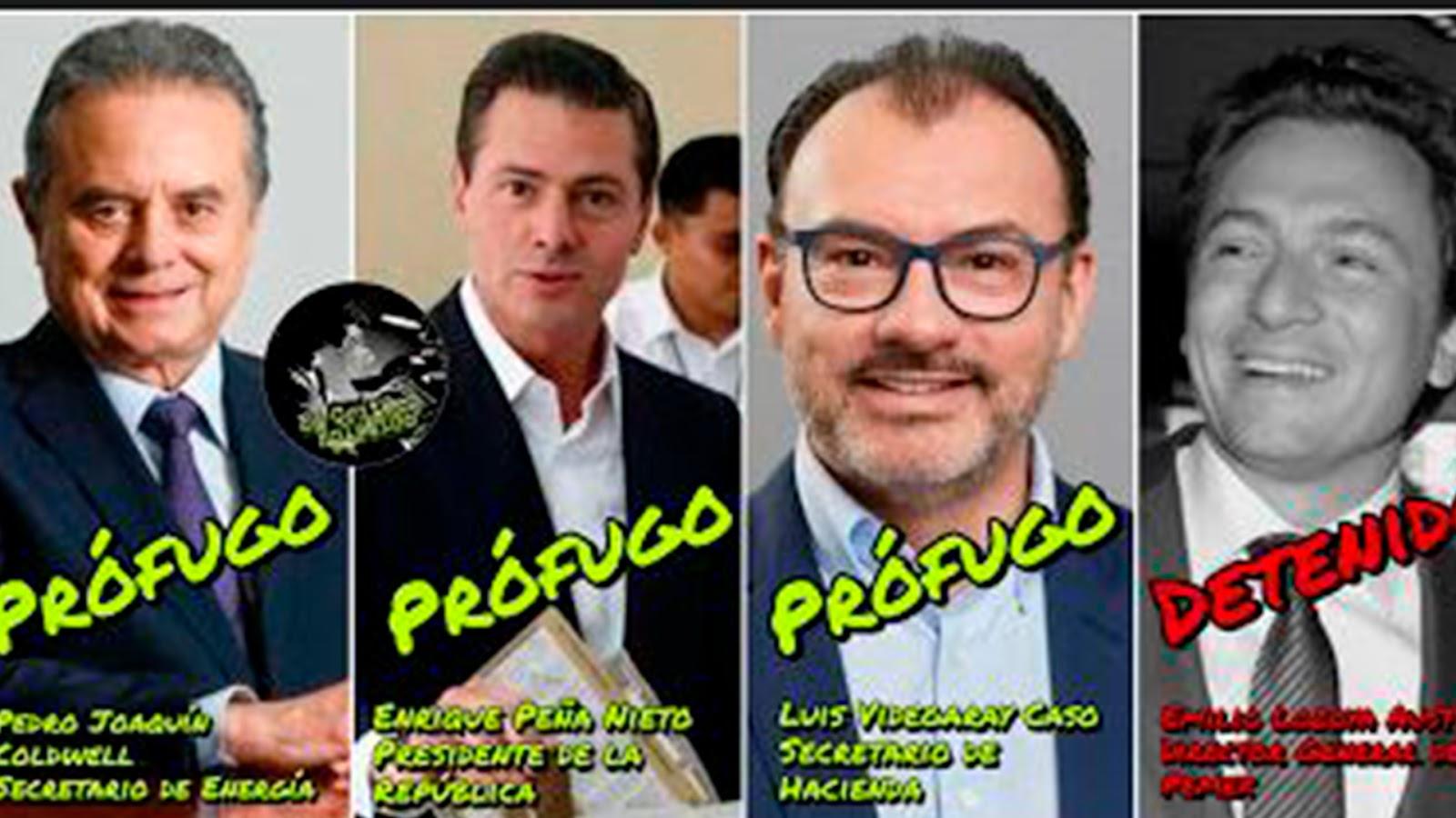 Peña Nieto, Videgaray y Coldwell y otros PRIISTAS desaparecidos por caso Lozoya