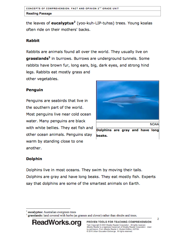 ReadWorks Free Passages & Questions Literacy Spark