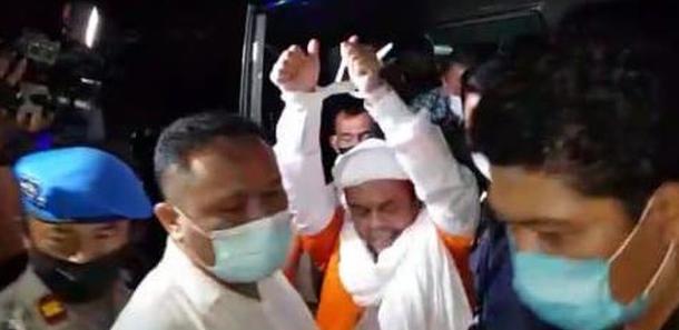 habib rizieq shihab ditahan polda metro