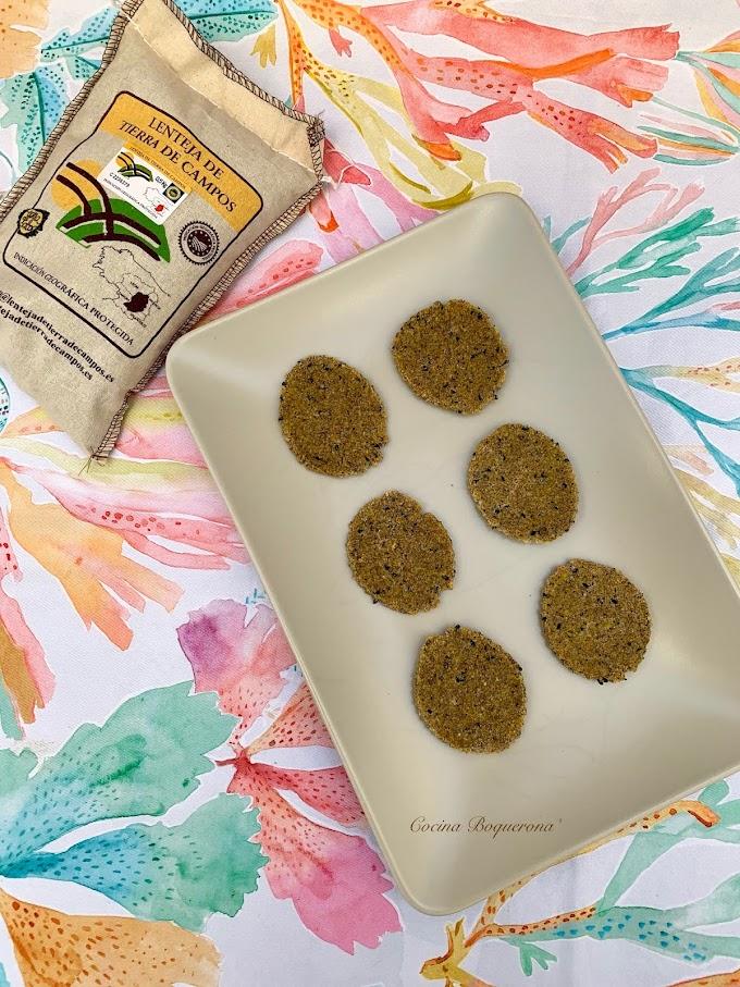 Chips de lentejas, semillas y alga kombu (con Lenteja de Tierra de Campos)