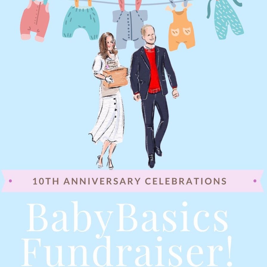 Kate's Rangers are celebrating '10 Years of Will and Kate' with an Amazing Baby Basics Fundraiser