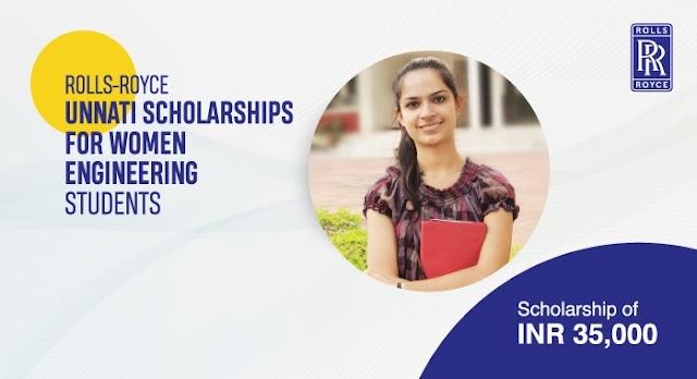 ROLLS-ROYCE UNNATI SCHOLARSHIPS FOR WOMEN ENGINEERING STUDENTS