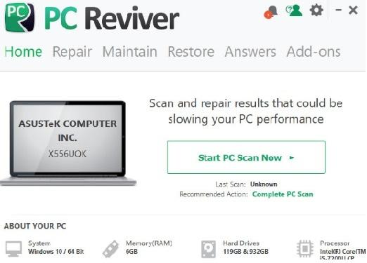 تحميل برنامج صيانة الجهاز وتحسين اداء الكمبيوتر PC Reviver