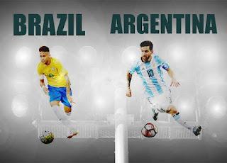ميسي الأرجنتين ونيمار البرازيل
