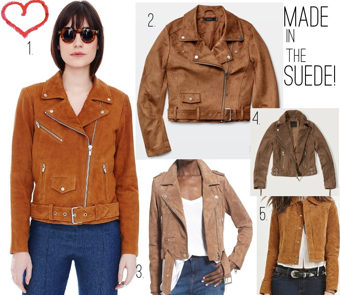 Best suede jackets 2016 Aritzia, Veda, Abercrombie Fitch, BlankNYC, Forever 21